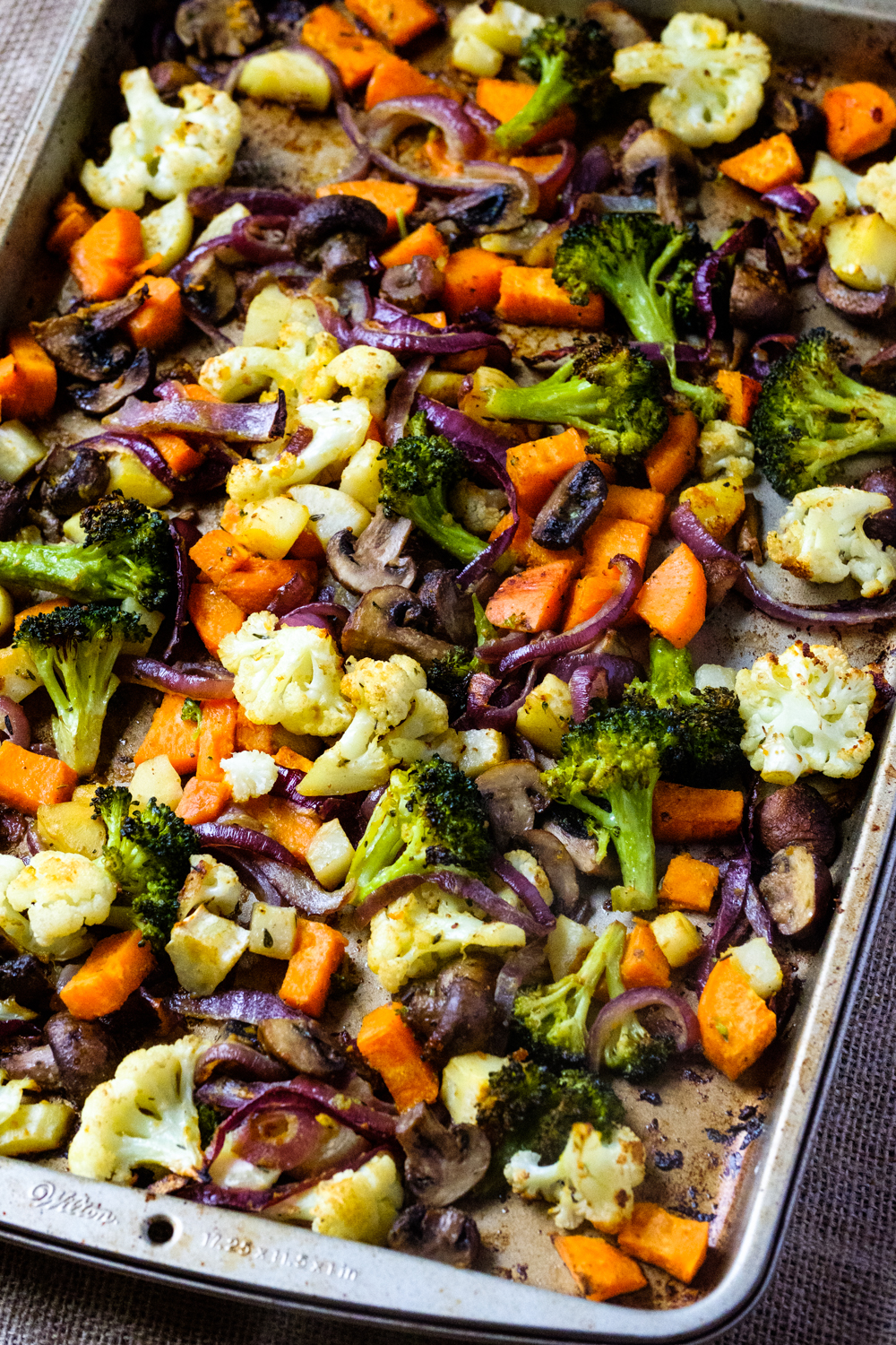 Easy Vegetable Medley out of the oven