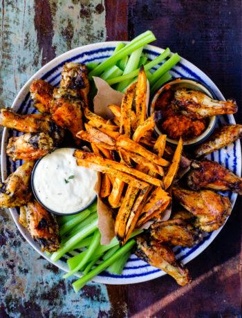 Mustard Sage Crispy Chicken Wings Platter