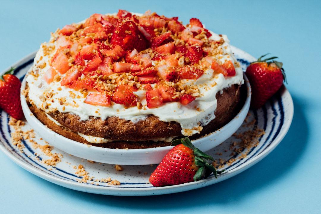 Almond Hazelnut Birthday Cake With Mascarpone Cream Creative In My