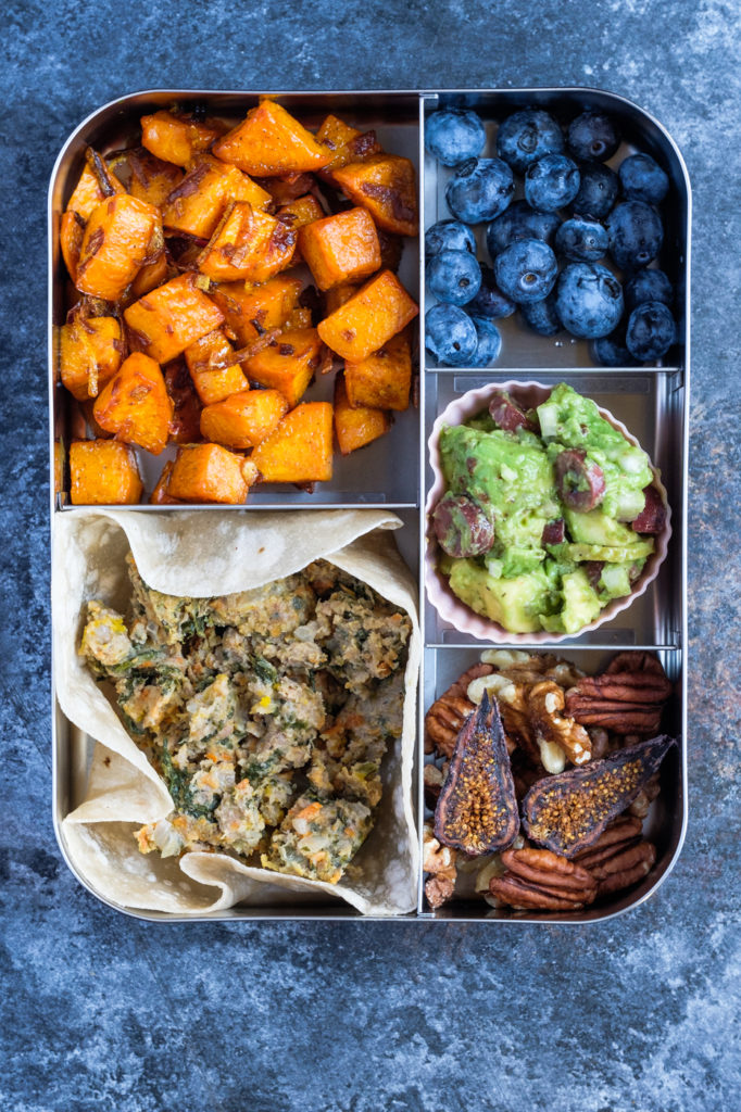 Turmeric sweet potato is a great idea for the lunch box