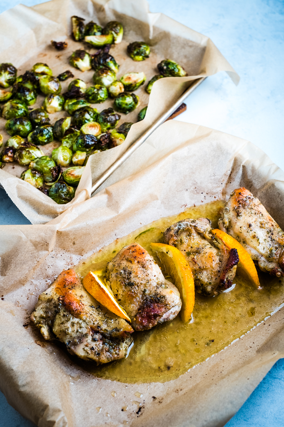 Orange Chicken with Brussels Sprouts