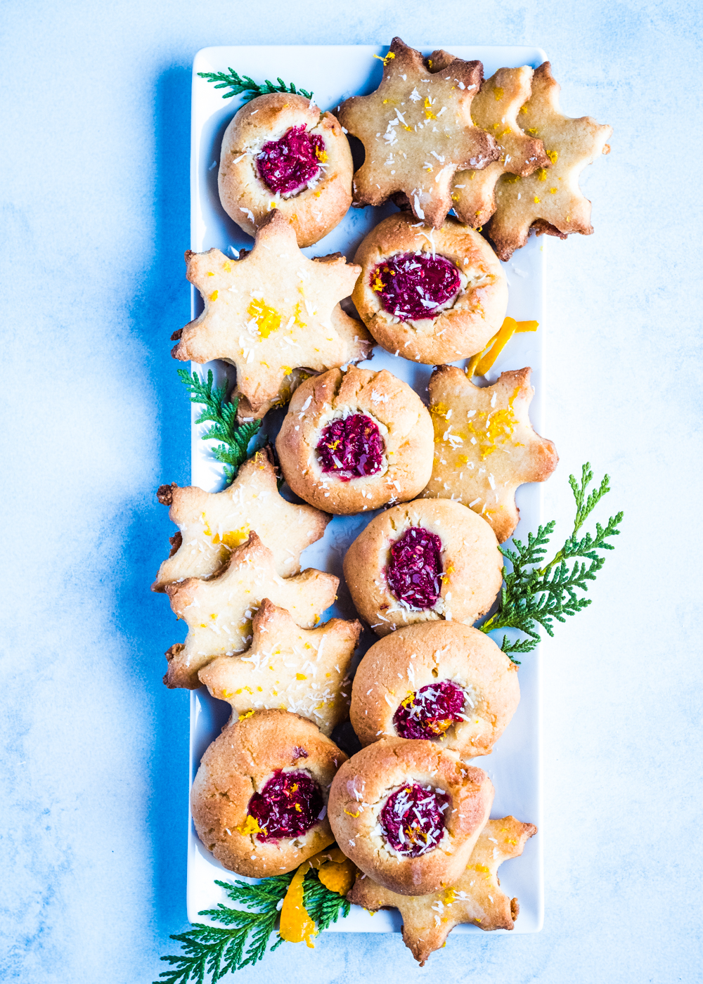 Lectin Free Christmas Cookies With Orange And Raspberries Two Ways