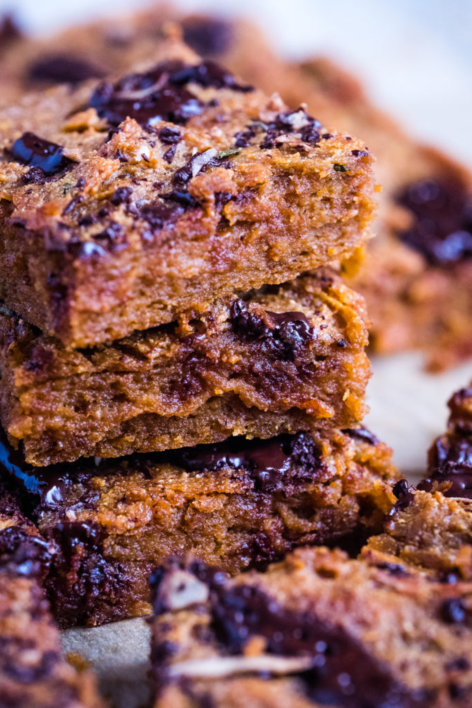Sweet potato brownie is best served cold from the fridge