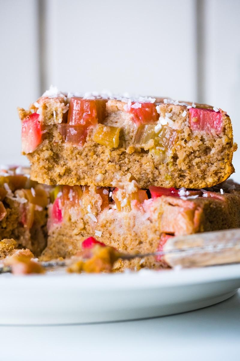 rhubarb cake gluten free