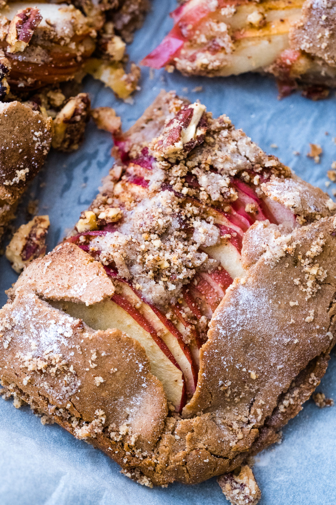 Apple Galette with Hazelnut Crumble