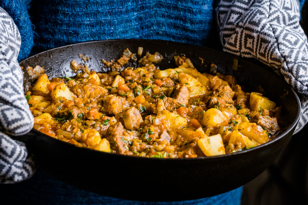 Lectin-Light Pork Paprikash made without tomatoes and dairy.