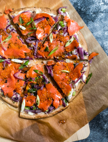 Lectin-Free Pizza with Wild Caught Salmon and Caviar