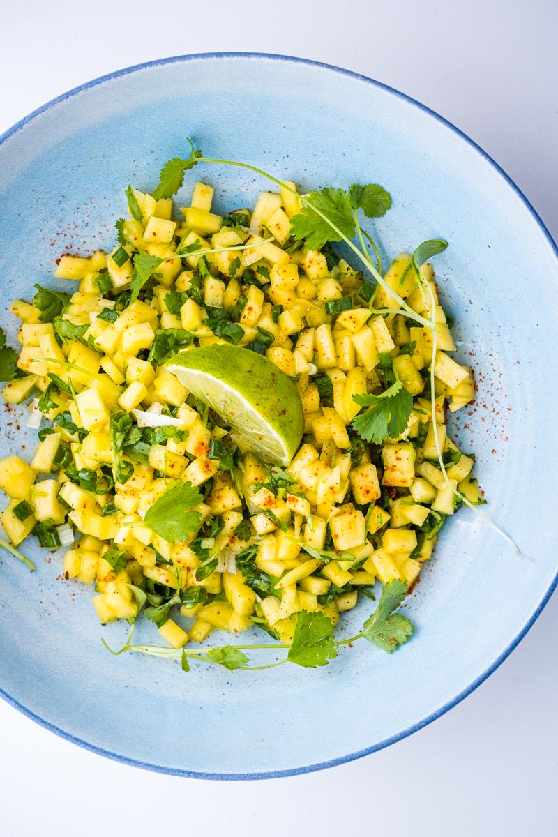lectin free green mango salsa