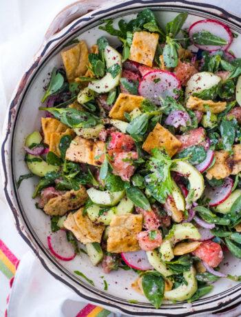 Gluten-Free, Lectin-Light Fattoush Salad